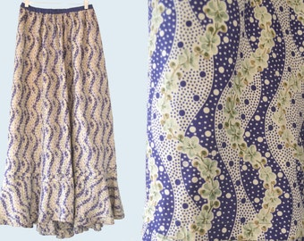 1910s Edwardian Silk Skirt size L