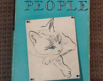 """Vintage Book, """"Cats and People"""", First Edition, Copyright 1950, Hard Cover"""