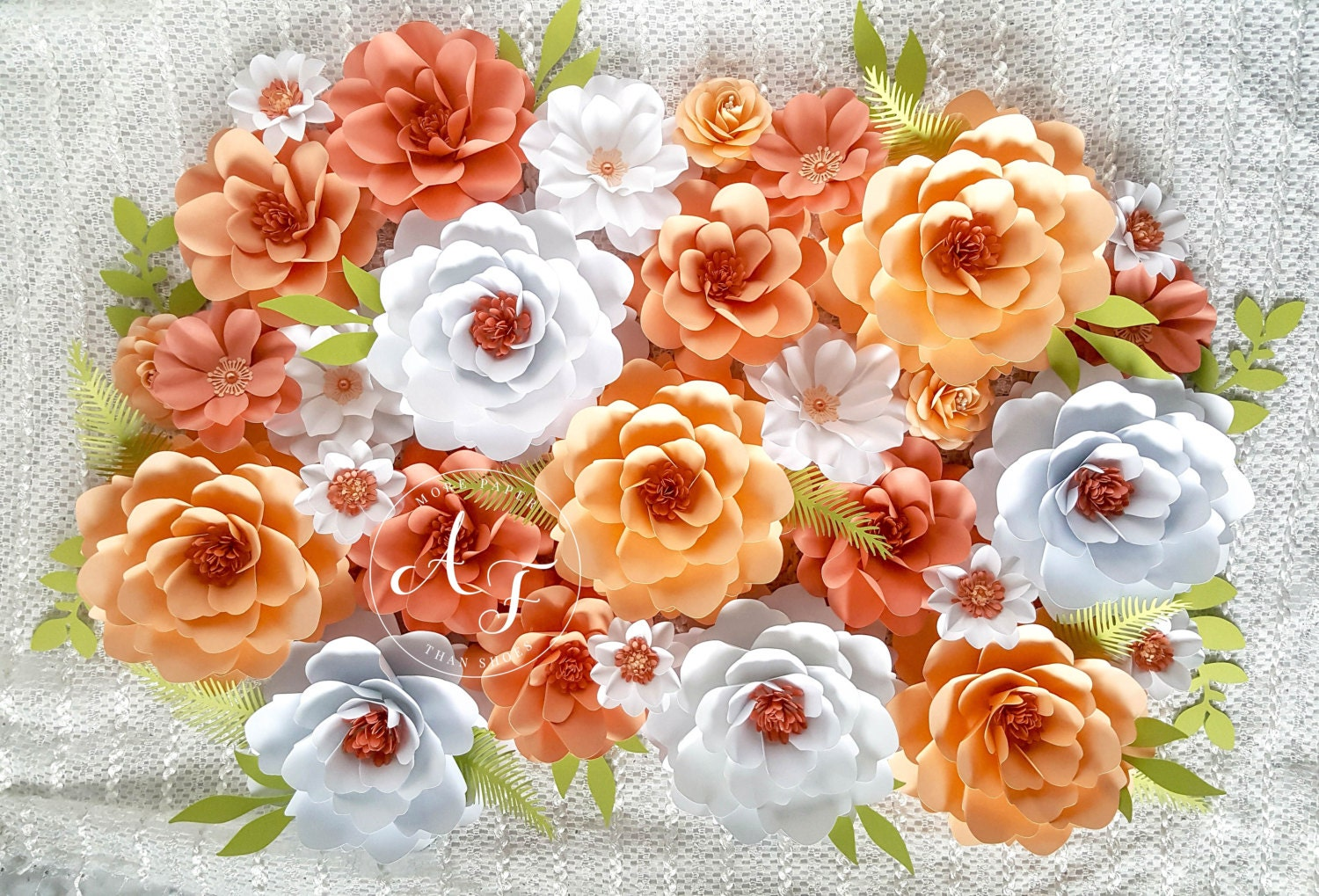 Paper flowers wedding photo prop backdrop extra large zoom dhlflorist Choice Image