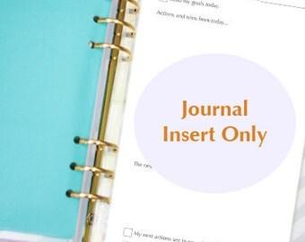 Goal Journal inserts refill