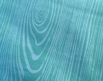 Aqua Woodgrain  - Flannel Fabric - BTY