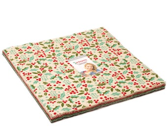 Moda Berry Merry Layer Cake- (42) 10 inch Squares Quilt Fabric Basic Grey NEW