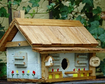 BIRDHOUSE COUNTRY COTTAGE  Rustic Cedar Shake Roof