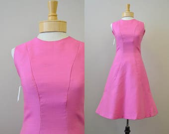 1960s Pauline Trigere Pink Sheath Dress