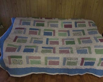 Pastel Patchwork Homemade King Size Quilt