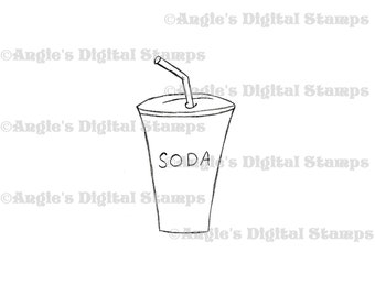 Soda Digital Stamp Image