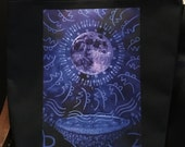 "Tote Bag, 'Let the Moon Cry' by Shelley Irish, 18"" x 18"", Original Art Bag"