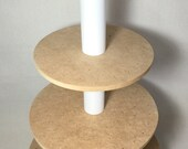 4 Tier Round Unfinished Custom Made Cake Pop Stand. Holds 203 Pops.