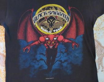 Vintage BLACK SABBATH 1981 Tour T SHIRT concert tee