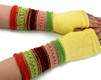 Fingerless gloves - Arm warmers - Womens Fingerless - Long Fingerless Mittens - Wrist warmers - Hand warmers