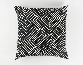 ON SALE Quadrille Alan Campbell Melinda Black on Tint Pillows (Both Sides-22 X 22)