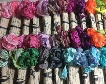Vintage Style Seam Binding,  Hand Dyed Seam Binding, Crafting Ribbon, French Trim, Ribbon trim,  Rayon Ribbon