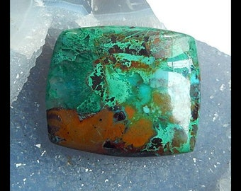 Chrysocolla Gemstone Cabochon,46x40x8mm,27.9g