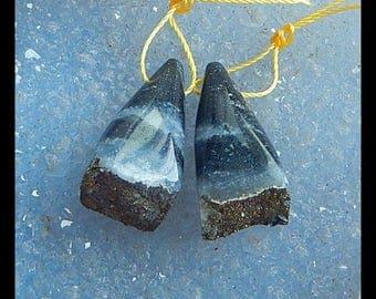 latest Drusy Rainbow Iron Pyrite Earring Beads 28x13x12mm,11.2g
