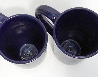 Large Cobalt Blue Mugs - 2 available