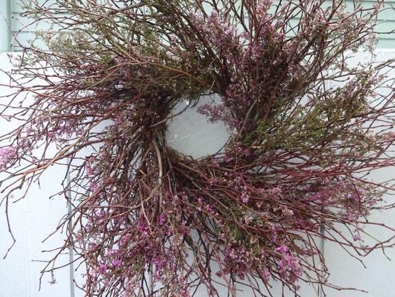 Blueberry Heather Wreath Rustic Wreath Twig Wreath Spring