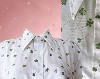 Mens Floral Shirt, Vintage 60s Flower Shirt, Short Sleeve Shirt, Mens Vintage Summer Shirt, Button Down, Mens Flower Shirt Gift for Dad
