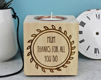 Personalised Thank You Candle Block