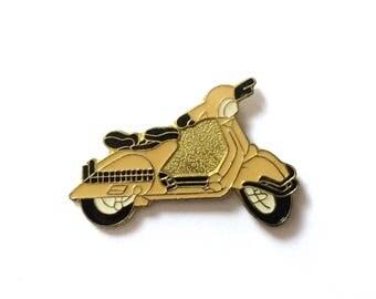 Vintage Italian Scooter Enamel Metal Pin