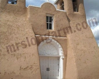 """ST. FRANCIS D'Assi Mission Church Taos (New Mexico) from Original Photo  5X7""""- Brand New"""