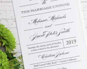 Instant Download - Editable Wedding Invitation Suite - Regal