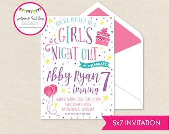 Girls Night Out Birthday Invitation, Girls Night, Girls Night Out Birthday, Girls Night Out Birthday Decorations, Lauren Haddox Designs