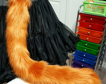 Amber Red Kitty Tail