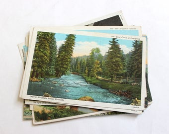 15 Vintage Outdoor Colorado Postcards Used - Collage, Mixed Media, Scrapbooking, Assemblage, Paper Craft, Art Journal Supplies