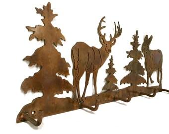 Deer Metal Coat Rack | Hunter Gift | Metal Wall Decor | Hunting Decoration | Deer Decoration