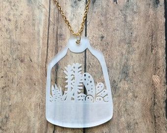 Gorgeous clear terrarium necklace