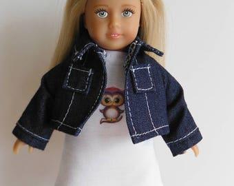 Mini American Girl Jean Jacket; Mini American Girl Knit Dress; Mini American Girl Clothes