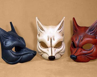 Dark Gray  Jackal / Wolf Mask