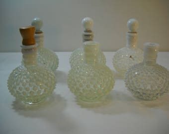 Vintage Lot Of 6 Fenton Hobnail Perfume Containers Wrisley Perfume