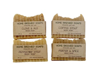 Beer Soap - Beer Soap Gift Set - Stout Soap - Clove Soap - Porter Soap - Natural Soap - Soap for Men - Valentines Gifts for Men - Beer Soap