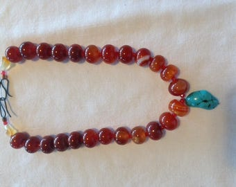 carnelian and turquoise focal point