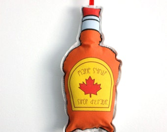 Canadien tree ornaments: Maple syrup- Sirop d'érable- Cute tree decoration- Stocking stuffers