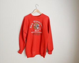 Vintage 90s World Champions SF San Francisco NFL Niners Sweatshirt // unisex XL xlarge