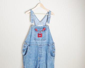vintage denim jean bib dungaree overalls -- womens size 20-- xxlarge