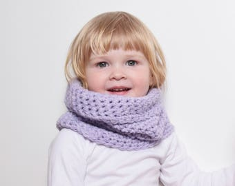 Chunky Cowl Snood for Toddler, Crochet Cowl Scarf, Infinity Scarf, Chunky Scarf, Unisex Kids Accessories, Kids Neck Warmer, Neckwarmer