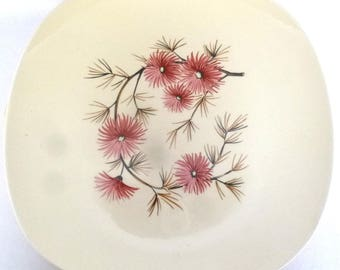 Vintage CORAL PINE Dinner PLATEA/ Edwin Knowles, set of 5