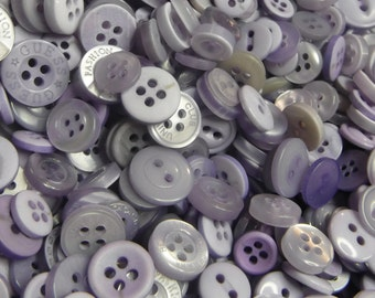 Light Purple Buttons, 50 Small Assorted Round Sewing Crafting Bulk Buttons