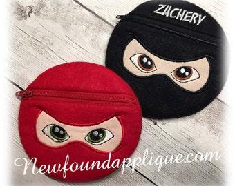 "In The Hoop Ninja Zipped Case Embroidery Machine Design for 5""x7"" Hoop"
