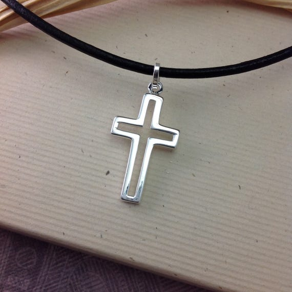 Boys Confirmation Gift Sterling Silver Cross Necklace On