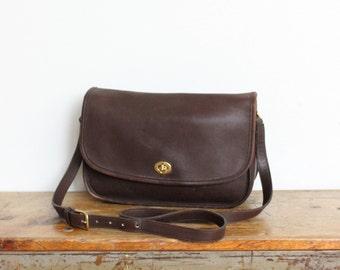SALE Vintage Coach Purse // City Bag Brown 9790 // Leather Messenger Bag