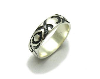 Sterling silver ring solid 925 band pendant