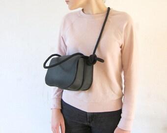 SADDLE BAG leather black