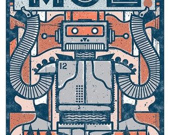 Moe. Official Concert Poster, Black Mountain, NC