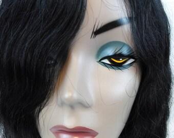 Female Mannequin Head with Brunette Hair//Repurpose//Craft Display//Hat Display//Shop Display//Photo Prop//Jewelry Display//Halloween Decor