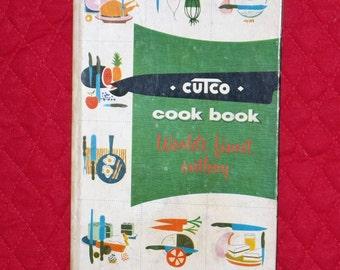 Cutco cook book cutlery Wearever hardback cookbook 1961 meats poultry vintage retro