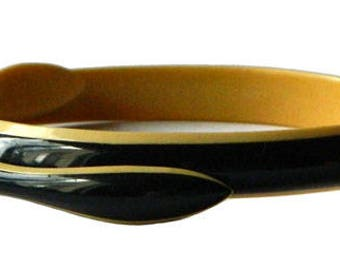 Vintage 1930s Celluloid Snake Bangle Bracelet